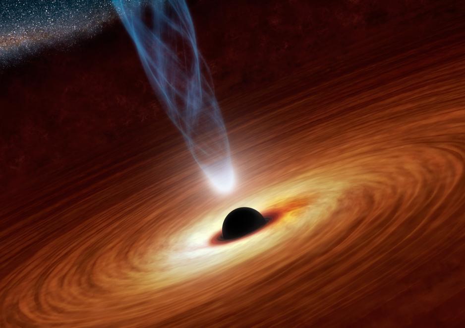Representacino artistica de un agujero negro