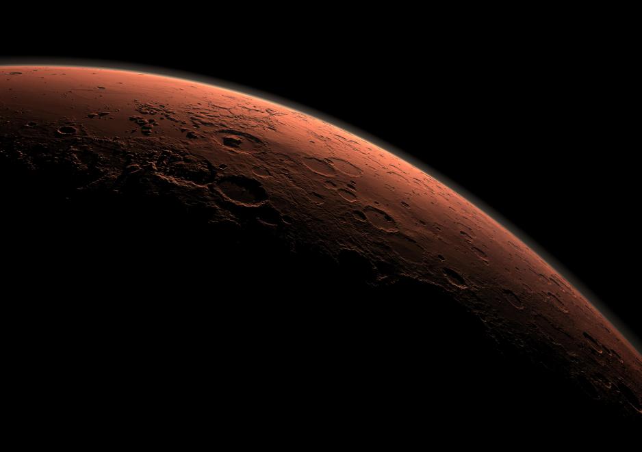 Marte, el planeta rojo desde el espacio