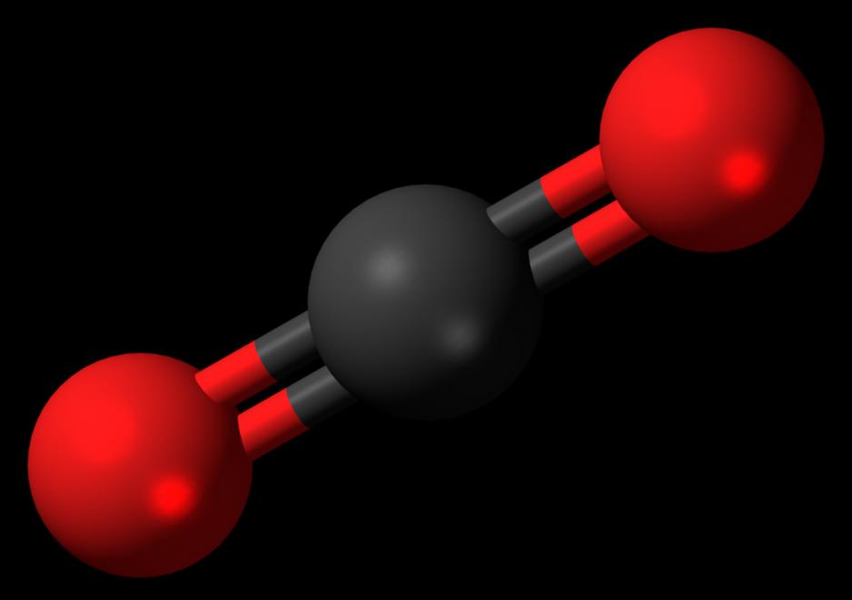 Representacion de molecula de dioxido de carbono