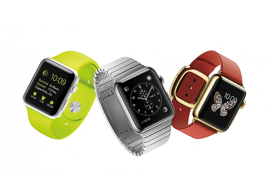 Los tres modelos de Apple Watch