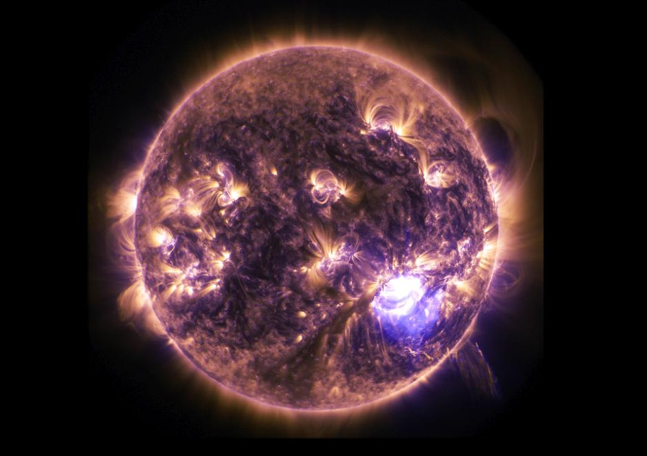 El Sol- Gran llamarada solar