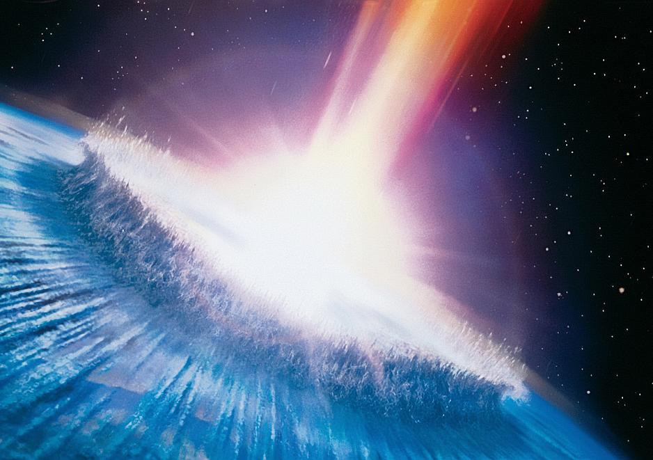 Asteroide impacta la tierra