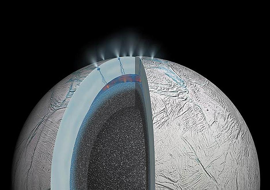 En Encelado existe actividad geologica e hidrotermica que pudiese dar pie a un ambiente propicio para la vida