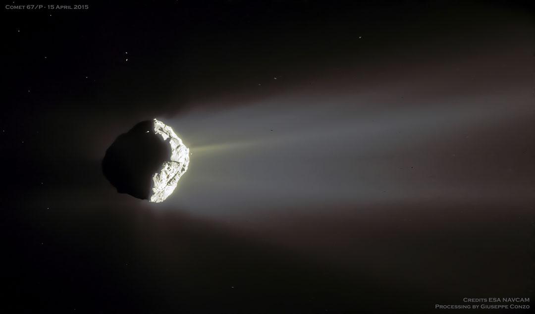 El cometa Churyumov-Gerasimenko en fase creciente