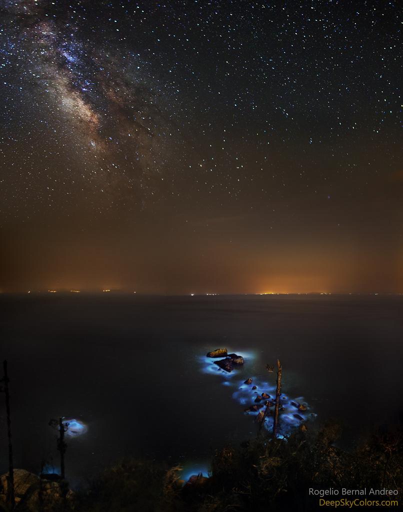 Lágrimas azules y Vía Láctea
