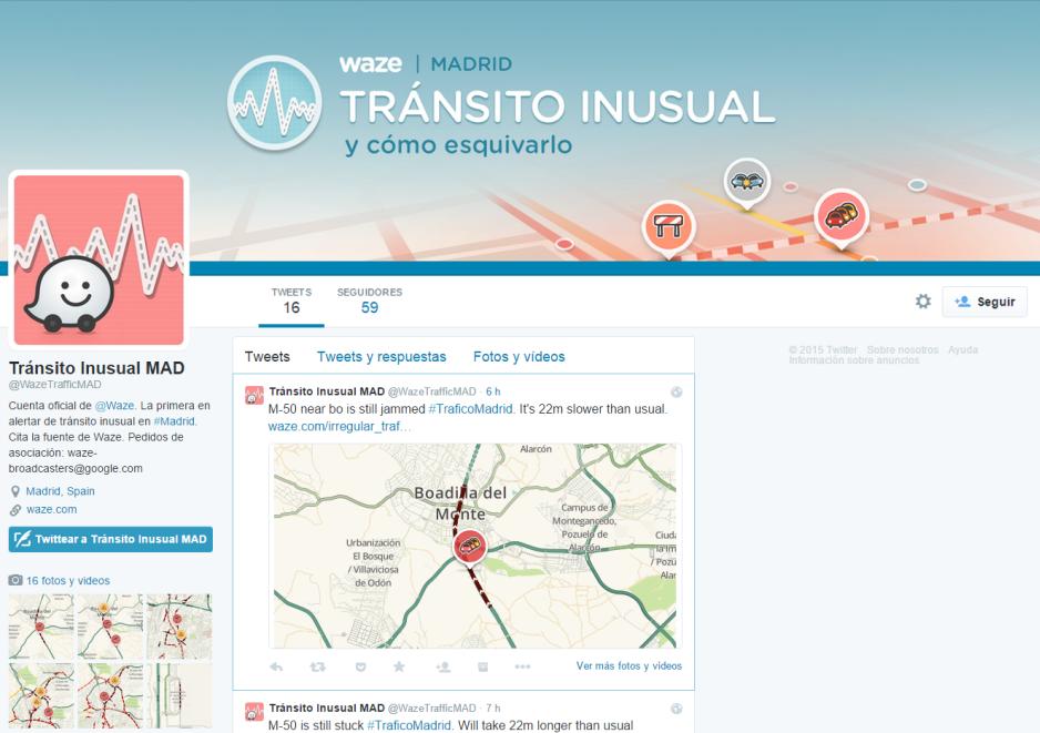 Waze lanza nuevo servicio de Tráfico Inusual en Twitter