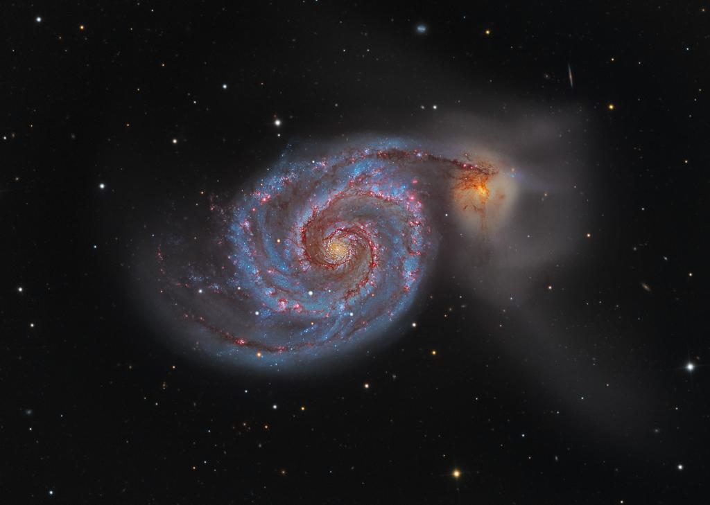 M51: la galaxia Remolino