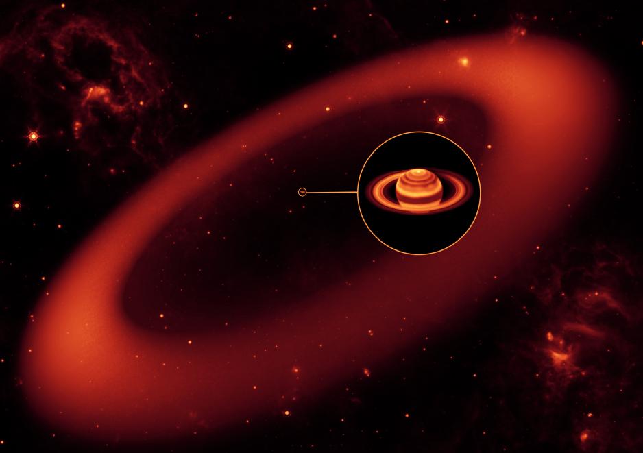 Nuevos datos sobre Saturno revela un enorme nuevo anillo