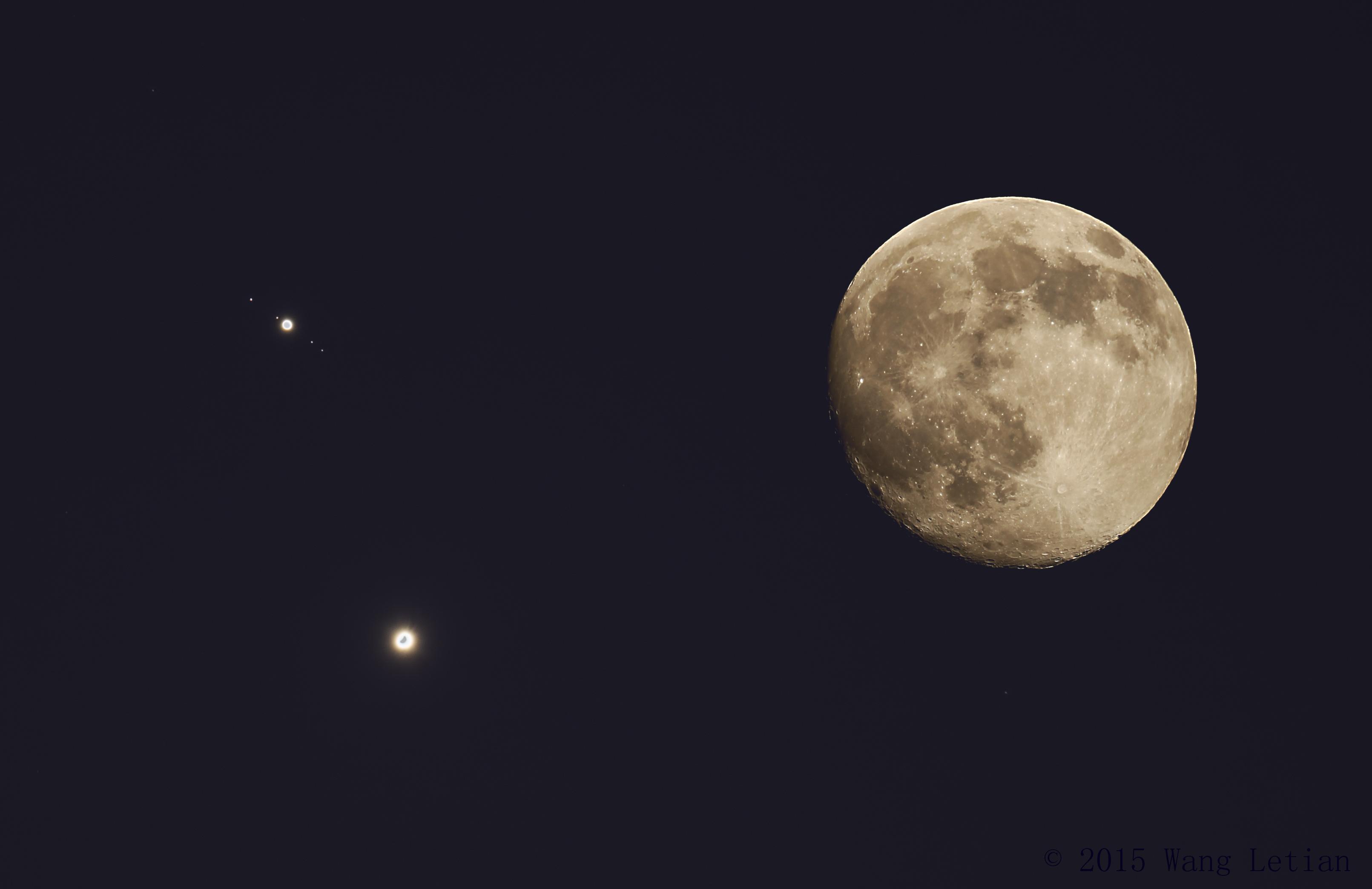Venus y Júpiter, muy cerca