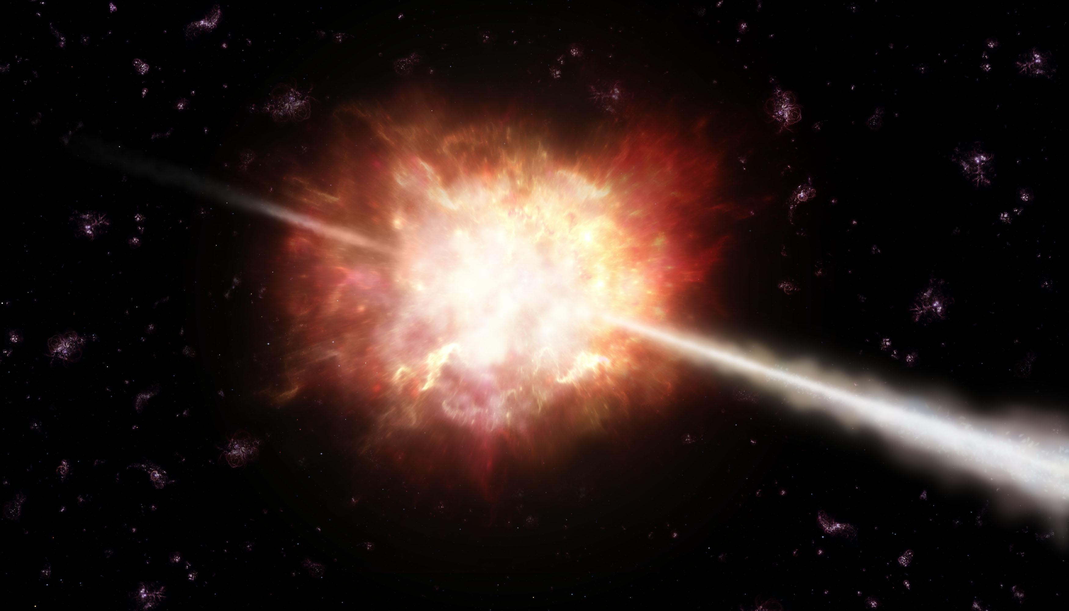 Lluvia de rayos gamma de 3C 279