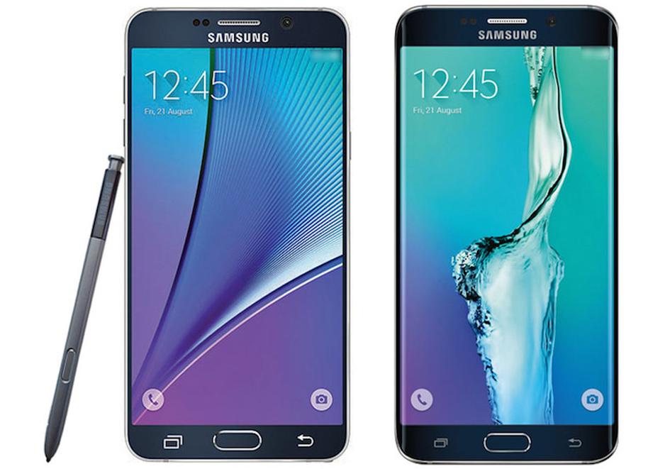Galaxy Note 5 y S6 Edge+ posan para la cámara