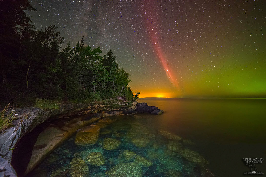 Un arco de protones sobre el Lago Superior