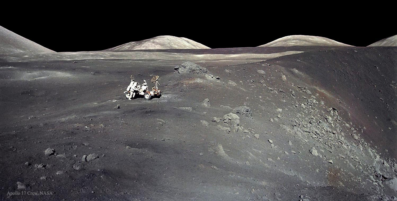 Apollo 17 en el cráter Shorty