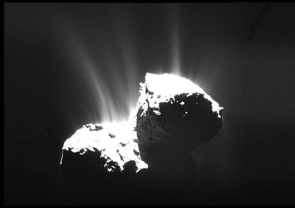 El cometa 67P tiene un ciclo de agua según indica Rosseta