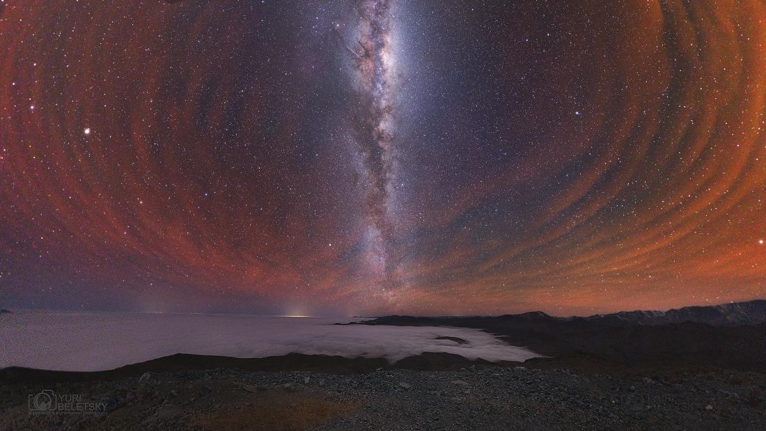 La Vía Láctea con luminiscencia austral