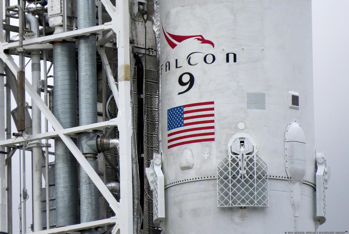 Aterrizaje del primer tramo del Falcon 9
