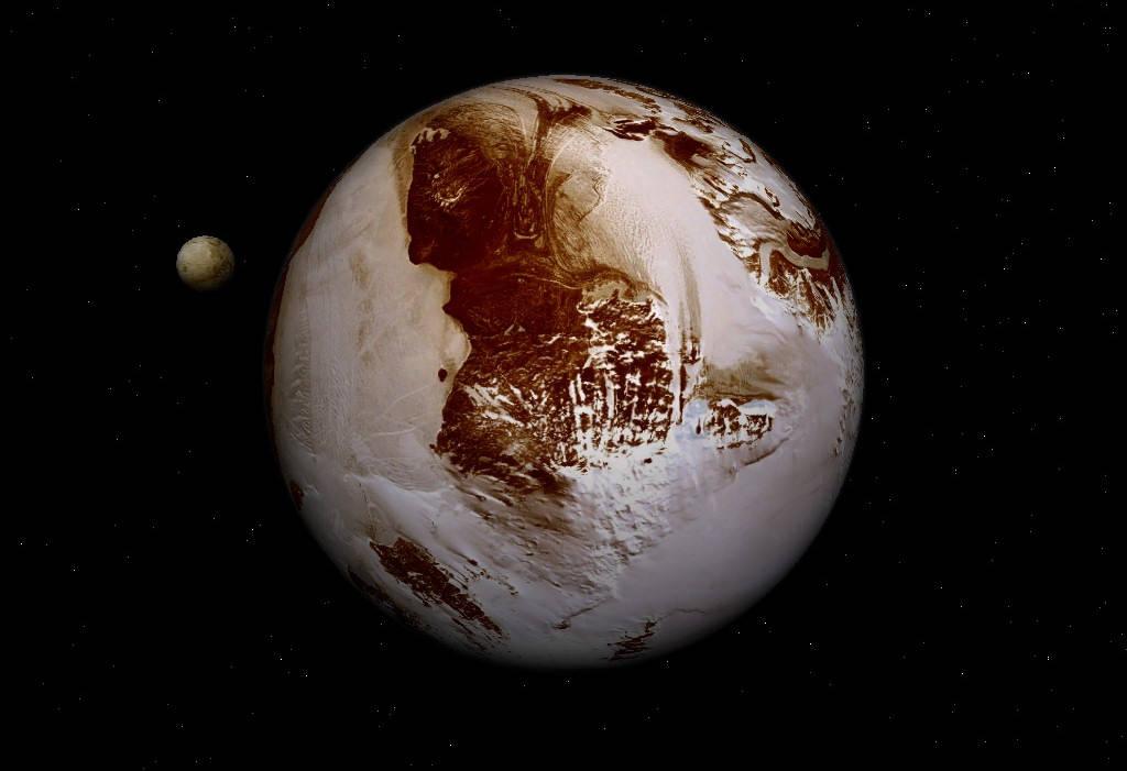 Sobrevolando Caronte, el satélite de Plutón