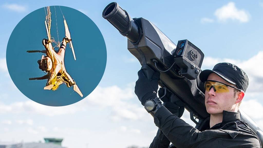 SkyWall 100 captura drones con una red para no dañarlos.
