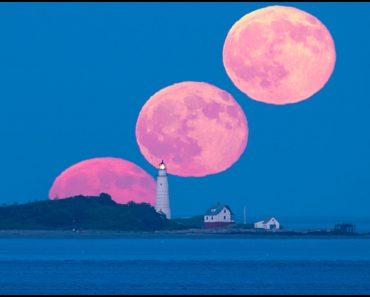Luna llena y luz de Boston