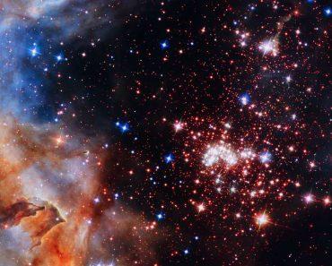 Fuegos artificiales celestiales: en el cúmulo de estrellas Westerlund 2
