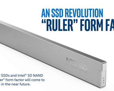 "Intel presenta SSD ""Ruler"" de 1 Petabyte"